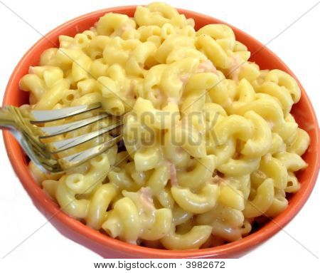 Macaroni And Cheese With Fork