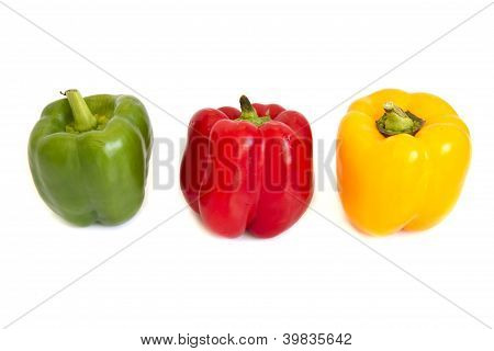 Sweet Peeper, Bell Pepper, Capcicum Isolated On White Background