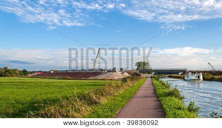 Construction Of Lgv Est Europeenne Near Strasbourg, France