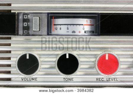Retro Tape Recorder Controls Macro