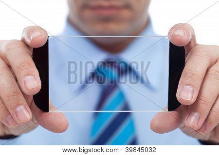 Businessman With Modern Technology Gadget