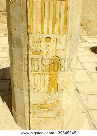 Ancient Egypt Inscriptions in Hatshepsut's Temple