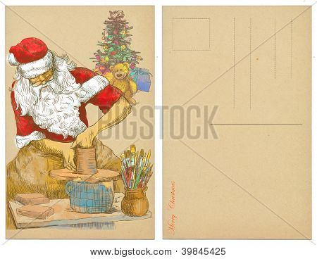 Design Christmas cards - Santa Claus