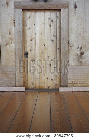 Wooden Wall And Battens