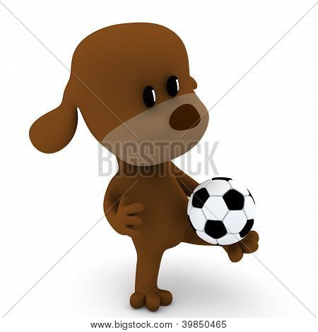 Dog Soccer Player