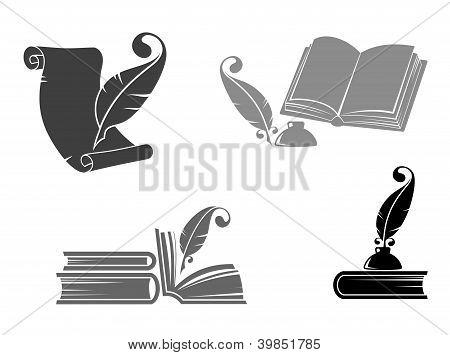 Libros y plumas