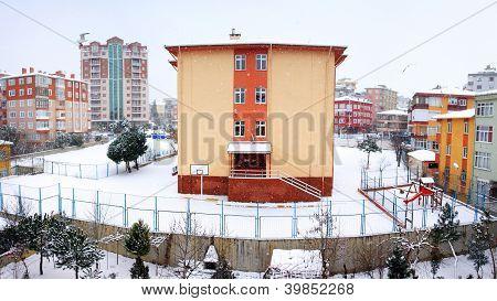 Panoramic winter view