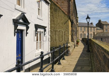 A Picturesque Row Of Houses In Bewrick-Upon-Tweed