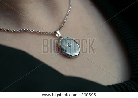 Necklace Around Woman's Neck
