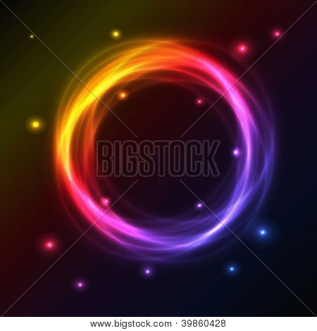 Abstract Background With Colorful Plasma Circle Effect