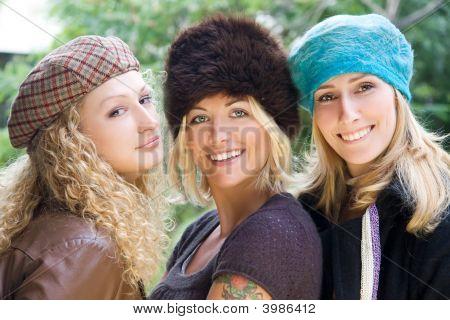 Young Girls Having Fun Outdoors