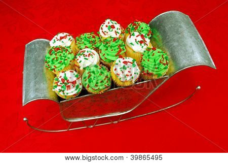 Cupcakes In Santa's Sleigh