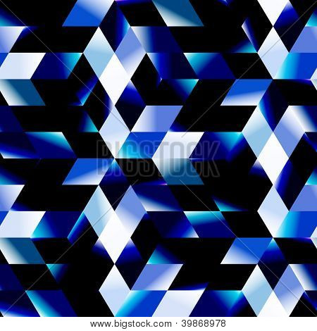 Seamless blue mosaic. Abstract background.