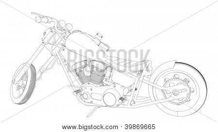 chopper bike sketch