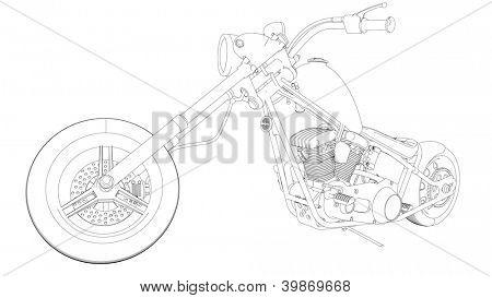 chopper bike sketch