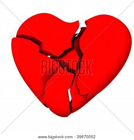 Broken heart 3d