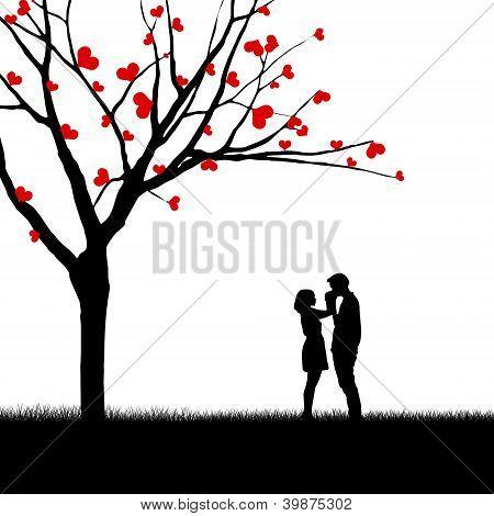 Beautiful Valentine Card Couple Design