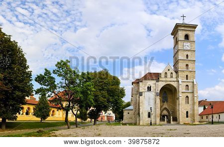 Panorama With Catholic Church In Alba Iulia