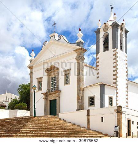 Portuguese Church Igreja Sao Martinho De Estoi Landmark, Algarve, Portugal