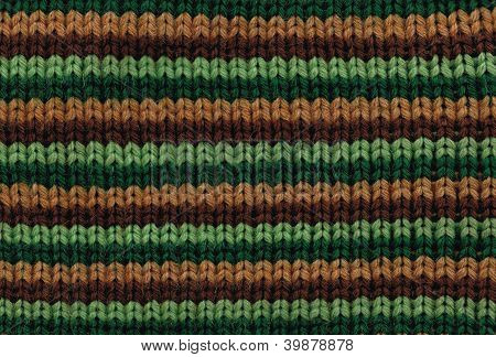 texture: knitted fabric knitting large with colored horizontal stripes