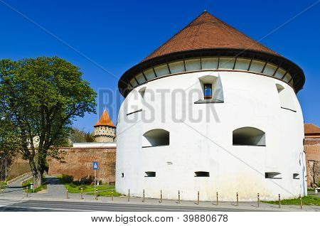 Thick Tower In Sibiu