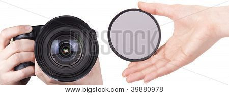 Photo Camera Isolated With Filter