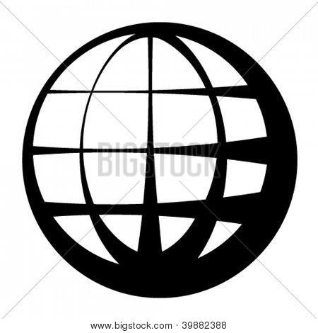 vector globe black symbol