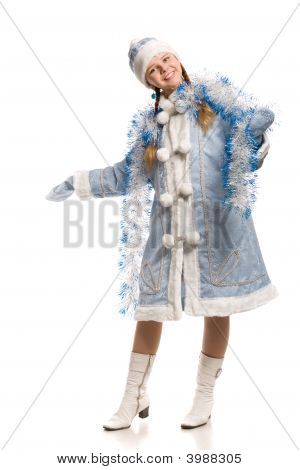 Happy Girl In Snow Maiden Suite