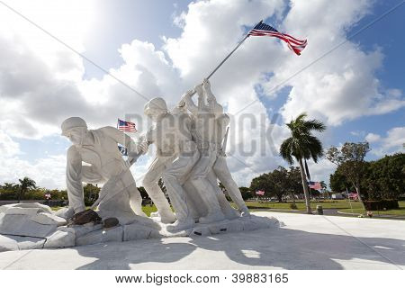 Statue of marines at Iwo Jima
