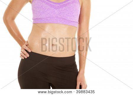 Close Up Belly Purple