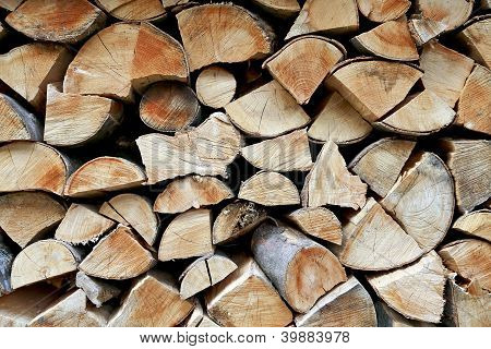 Detail Of A Woodpile