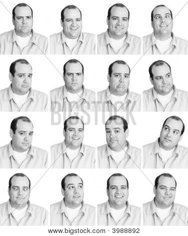 Man With Many Expressions