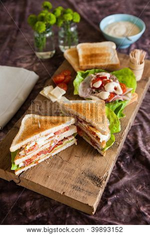 Freshly Made Clubsandwich