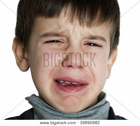 Face Of Crying Child