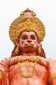 picture of hanuman  - Hanuman statue at Shri Shri Hanuman Park in Kalimpong Sikkim India - JPG