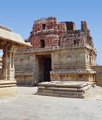 stock photo of krishna  - Krishna Temple at the Sacred Center around Hampi a city located in Karnataka South West India - JPG
