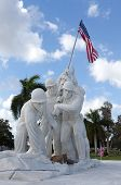 stock photo of iwo  - Military statue of marines at Iwo Jima - JPG