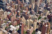 stock photo of voyeur  - Background of Buildings in Downtown New York City - JPG