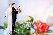 picture of top-gun  - Wedding cake topper in a police style