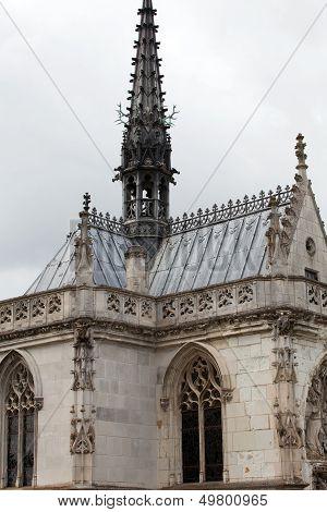 Chapel St. Hubert where Leonardo Da Vinci is buried in Amboise France.