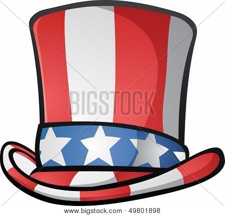 Uncle Sam Top Hat American Cartoon