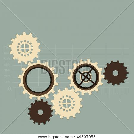 Abstract business background with cog wheel.
