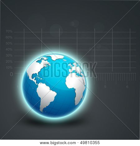 Abstract business background with globe.
