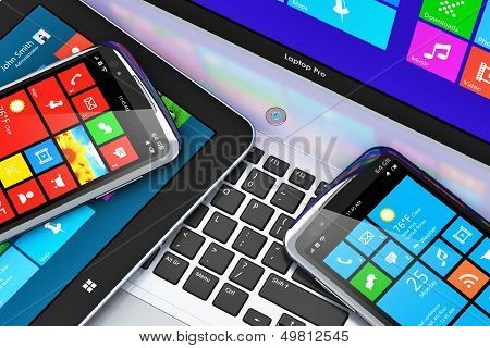 Mobile devices with touchscreen interface