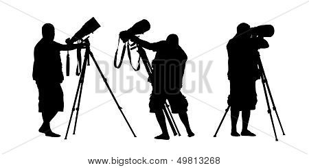 Photographer Silhouettes Set 3