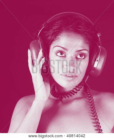 headphone woman