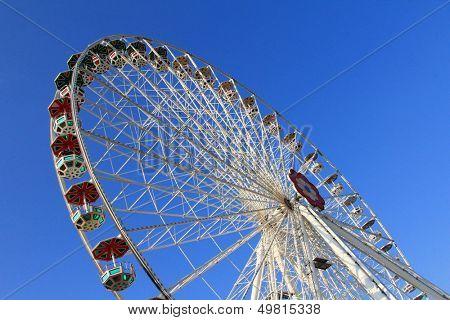 VIENNA, AUSTRIA - AUGUST 10 : Flower Wheel (Blumenrad), the ferris wheel at Wiener Prater Amusement Park on August 10, 2012 in Vienna.