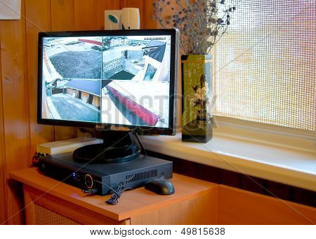 Video surveillance of perimeter in private house