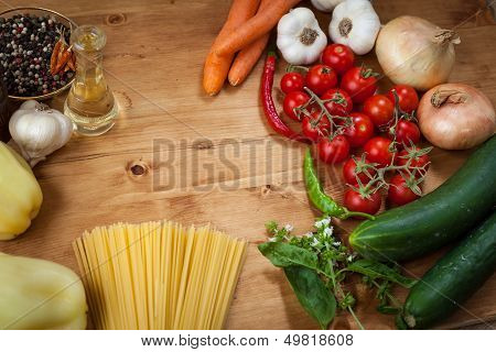 Vegetable And Spaghetti Pasta