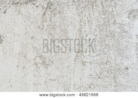 Gray Old Rough Wall Plaster Background